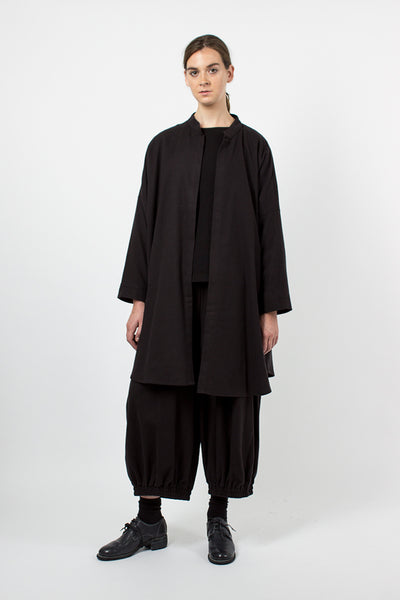 Black Long Square Shirt