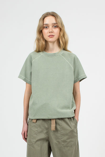 Nam Green Loopback Cotton SS Crew