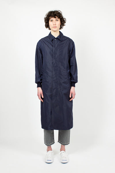 Navy Long Trench Coat