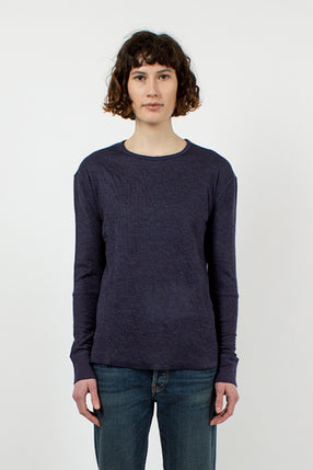 Navy Duofold Top