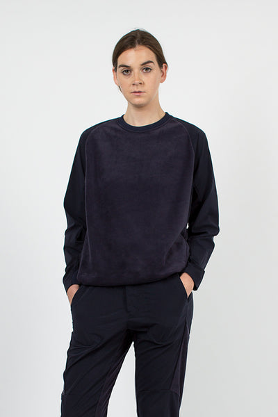 Navy Fleece Base T