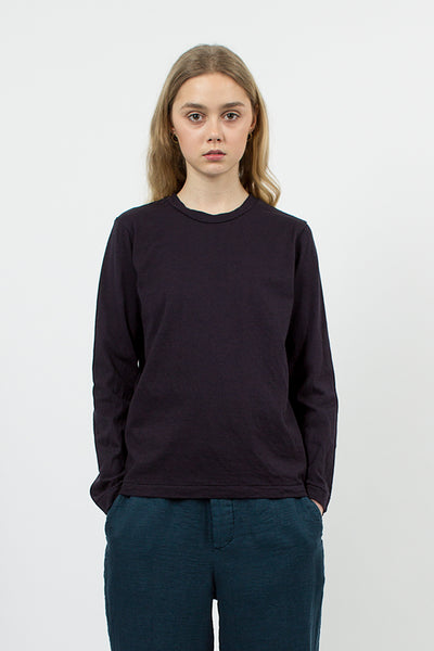 Cotton/Linen LS T-shirt Navy