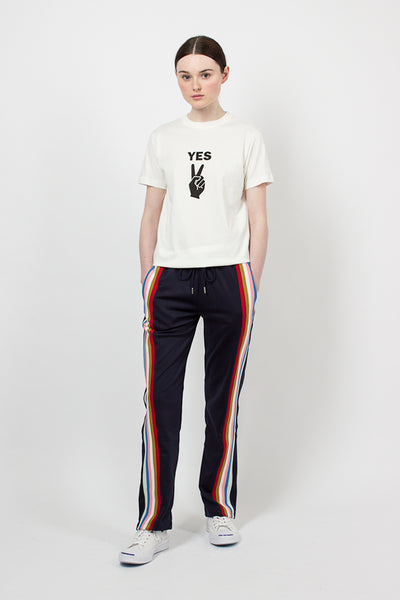 Navy Drawstring Track Pants