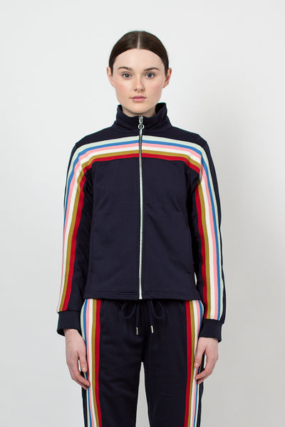 Navy Zip Up Track Jacket