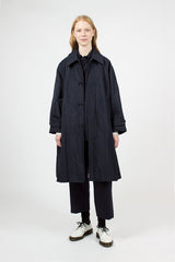 Oversized Flared Soutien Collar Coat