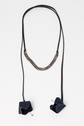 Ultramarine Leather Wrap Necklace