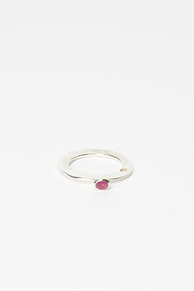 Nega Silver And Ruby Ring
