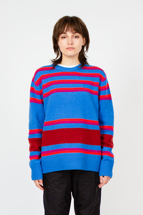 Nimah Blue Multicolour Stripe Face Knit