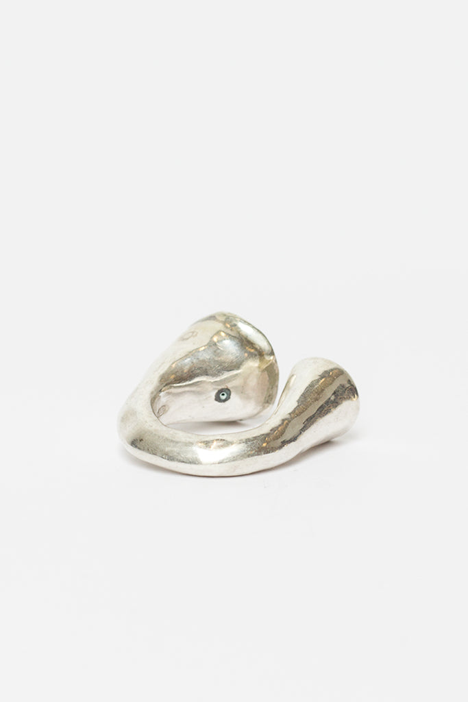 Noufa Silver Ring With Copper And Icy Grey Diamonds