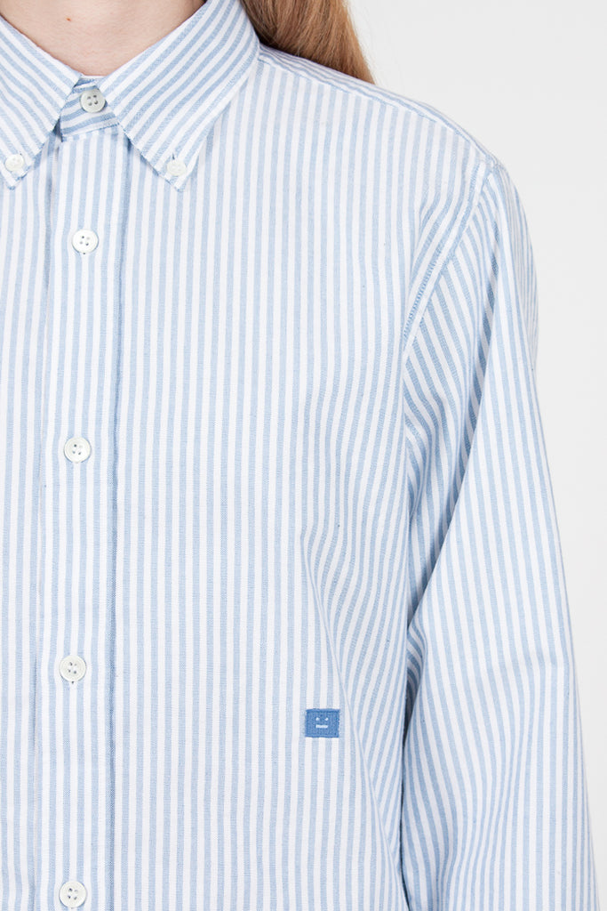 Ohio Face Stripe Shirt Blue/White