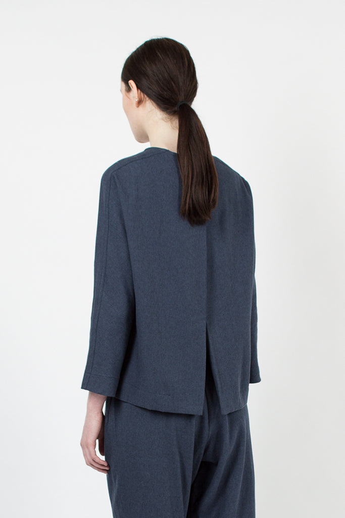 Midnight Open Back Top