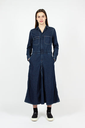 Indigo Denim Overall Dress
