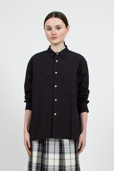 Black/Navy Typewriter Cloth Overshirt