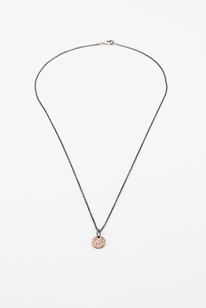 Jupiter Silver/Pink Gold With Diamond Necklace
