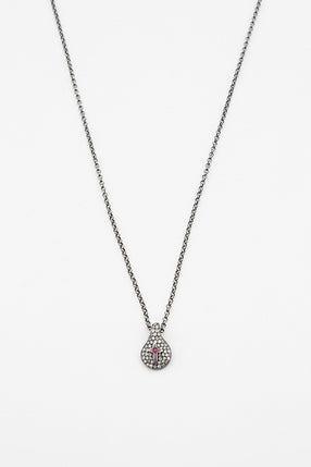 Diamond And Ruby Cross Necklace