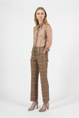 Rust Plaid Pants