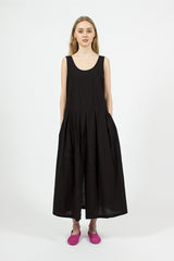Patched Dress Black