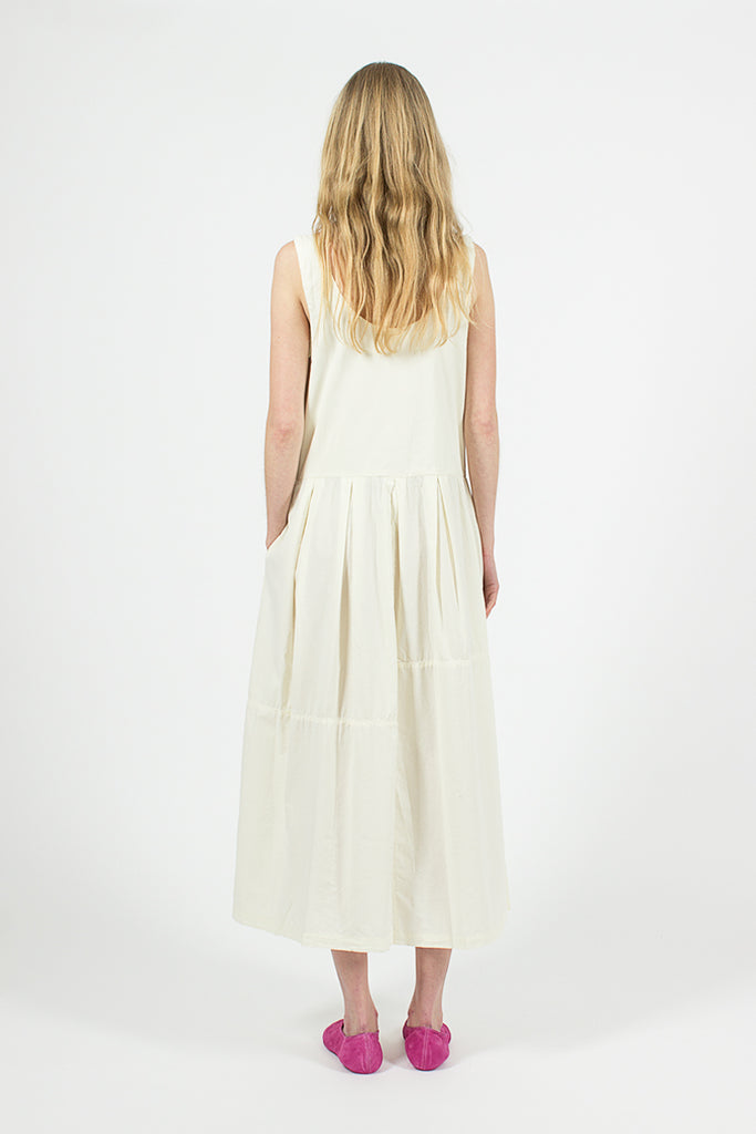 Patched Dress Cream