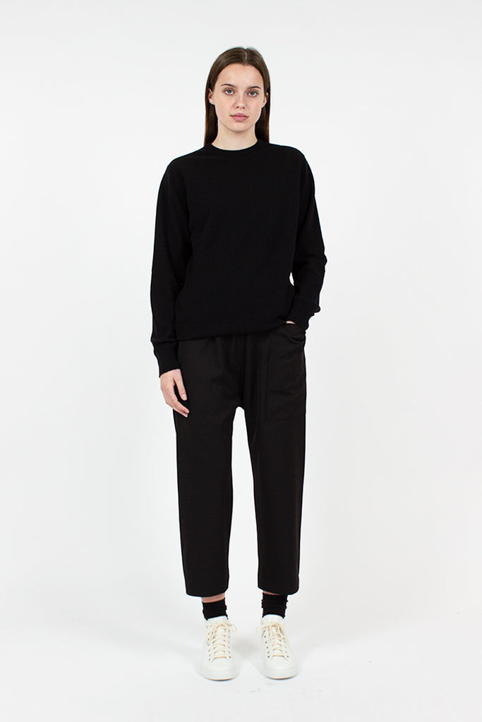 Black Peace Cashmere Jumper