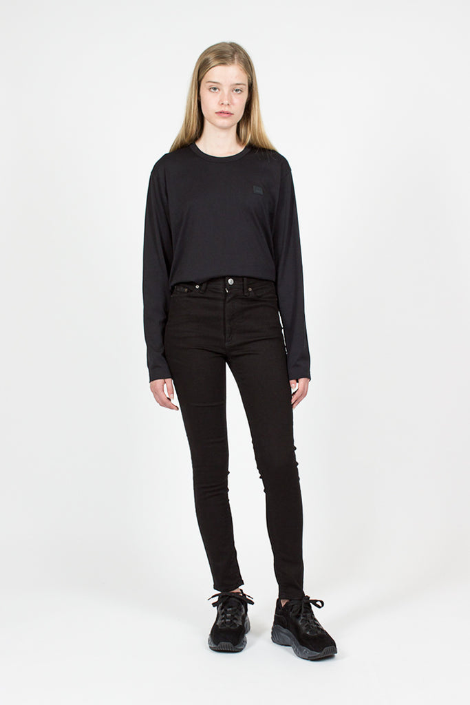 Peg Black High-waisted Jeans
