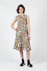 Caramel Desert Print Dress
