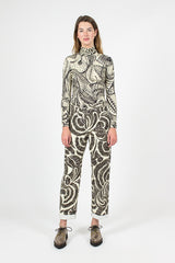 Wildlife Print Cropped Pant
