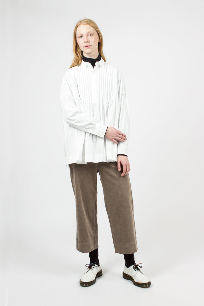 Gathered Pin Tuck Shirt
