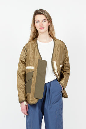 Beige Tropical Flight Jacket