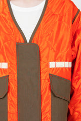 Orange Tropical Flight Jacket