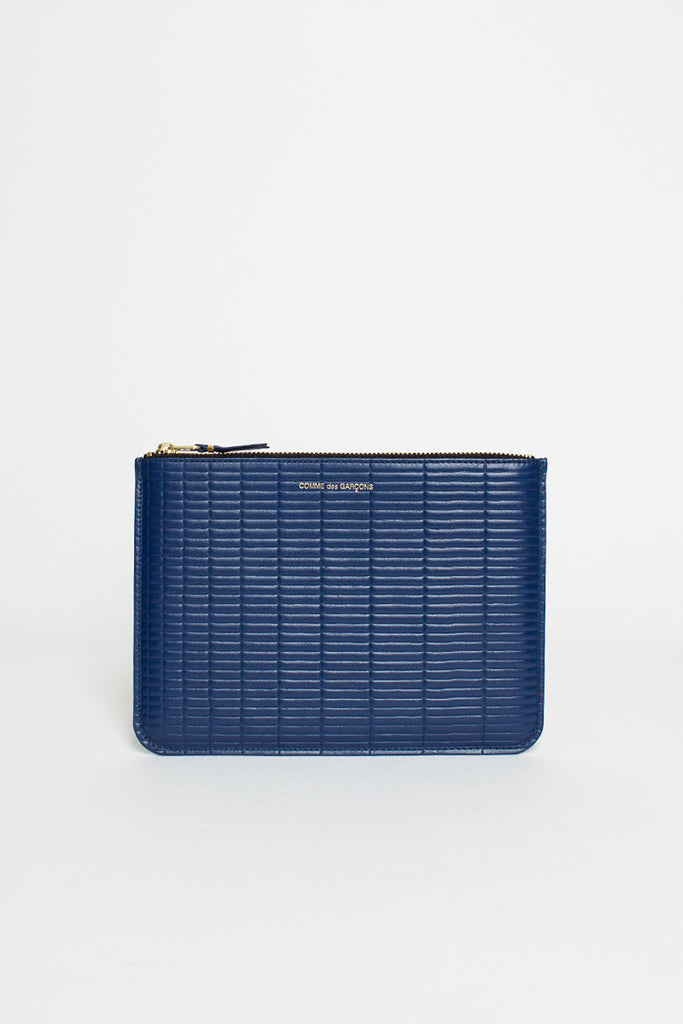 SA5100BK Blue Leather Brick Line Pouch