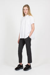 Piped Pull-on Trouser Charcoal