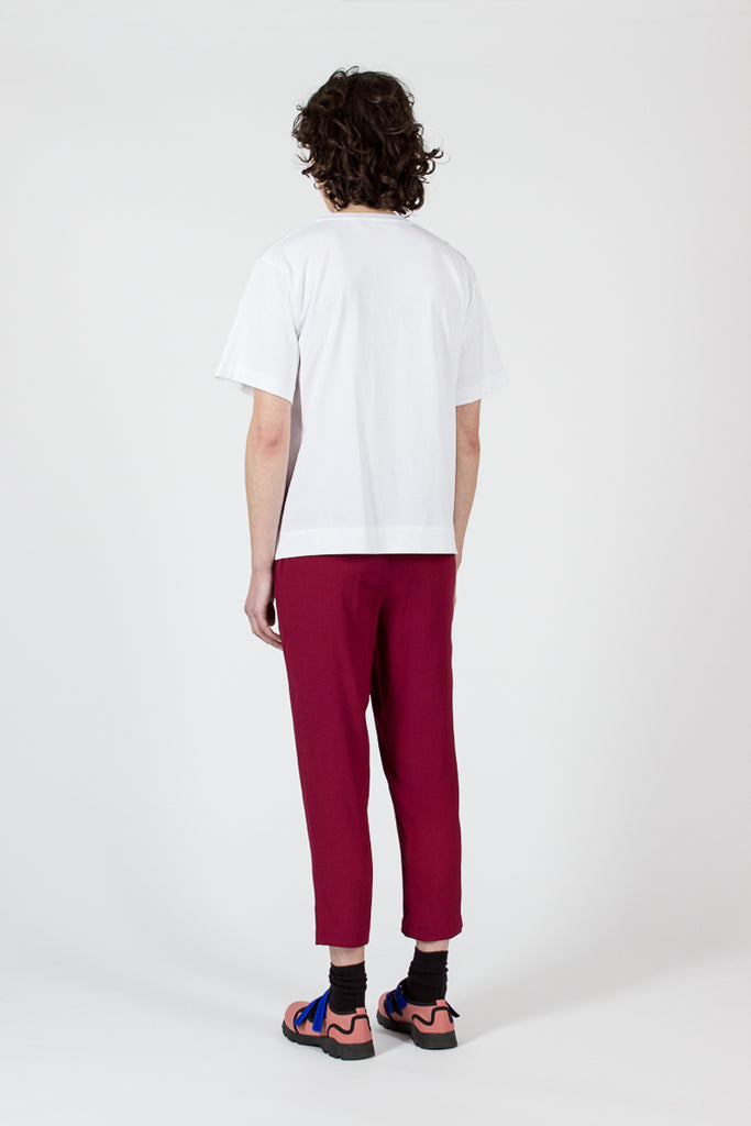 China Red Crepe Trousers