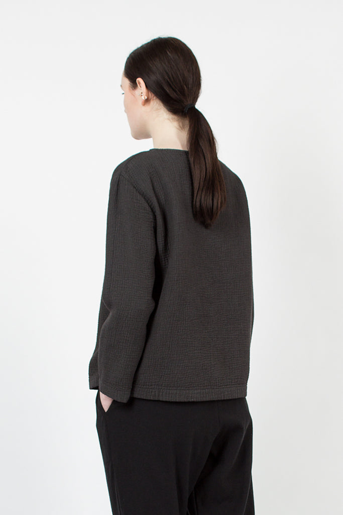 Charcoal Pullover Top