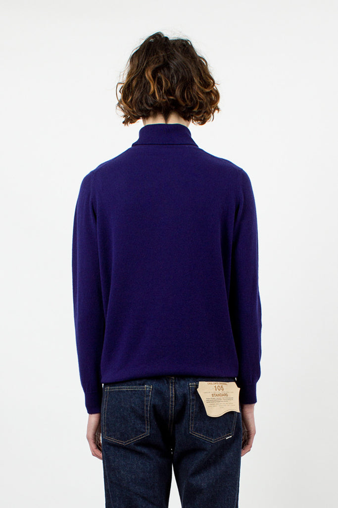 Constellation Blue Cashmere Rollneck