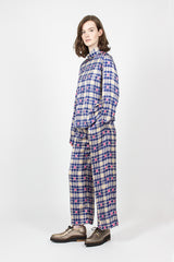 Puvis Pants Ecru/Blue Check