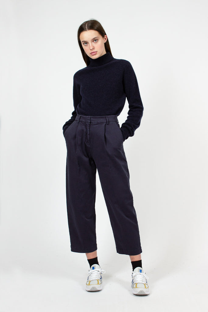 Navy Market Trousers