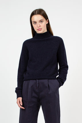 Navy Layer Roll Knit
