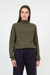 Olive Roll Knit