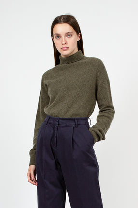 Olive Layer Roll Knit