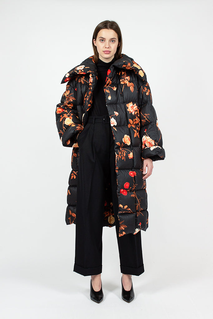 Floral Quilted Coat