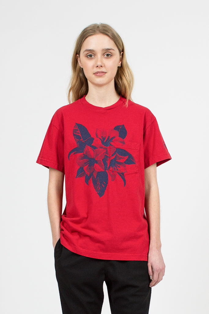 Red Floral Printed T-shirt