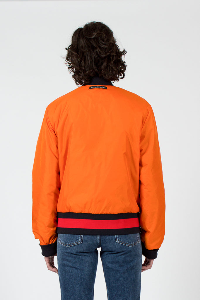 Navy/Orange Mills Face Reversible Bomber