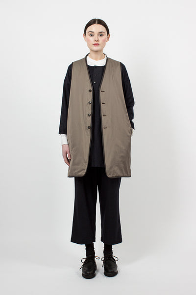 Brown Reversible Padded Liner Vest