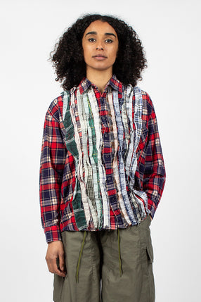 Rebuild Ribbon Flannel Shirt Red/Navy