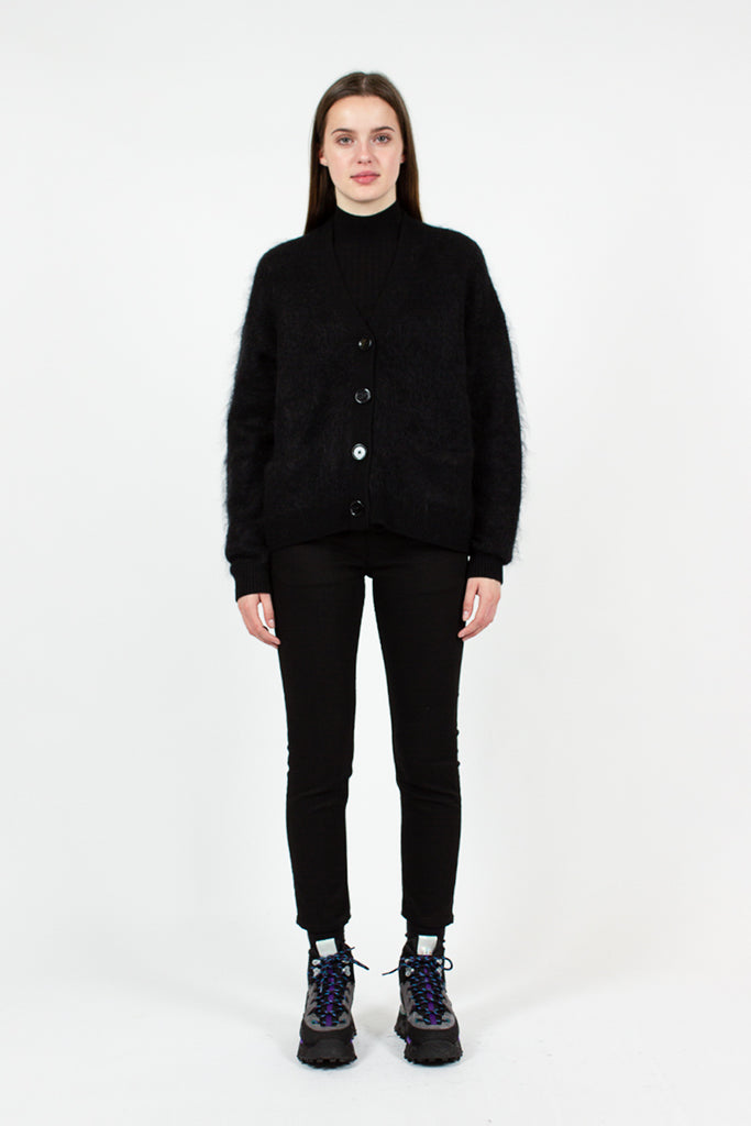 Rives Mohair Black Cardigan