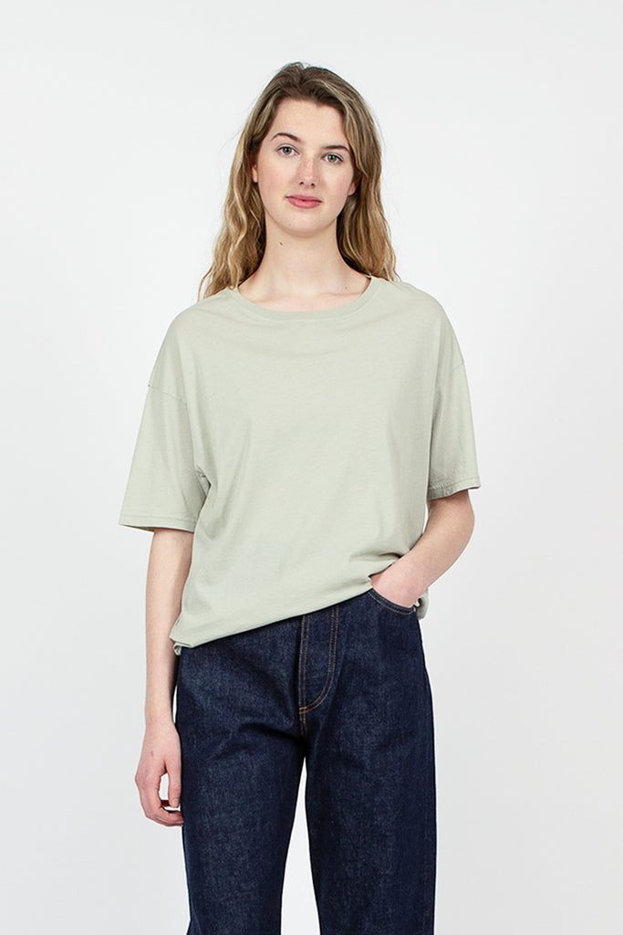 Green Tea Organic Cotton Loose Crew Neck Tee