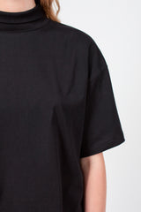 Black Cropped T-Shirt