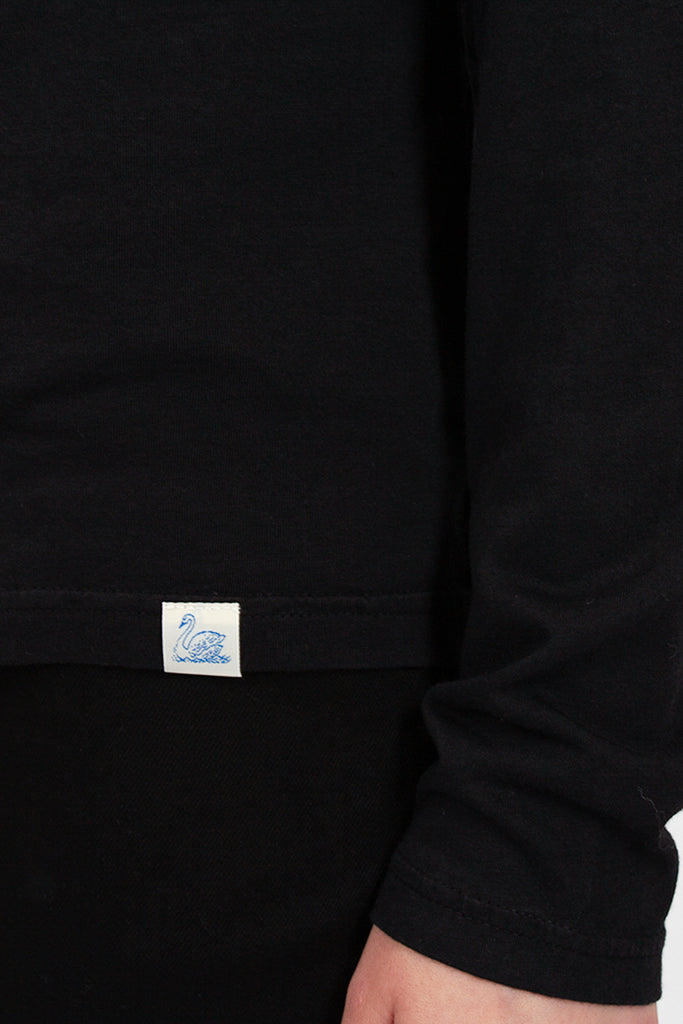 Black Turtleneck Long Sleeve Tee