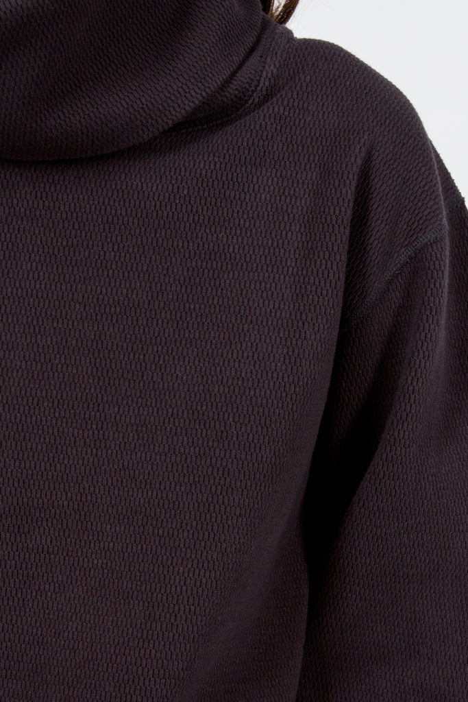 Navy Heavy Waffle Turtle Neck Sweater