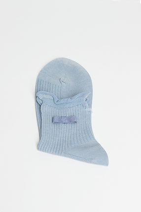 Light Blue Ruffle Sock